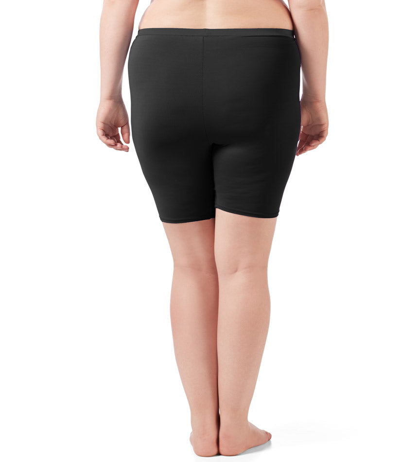 plus size women's boxer briefs black