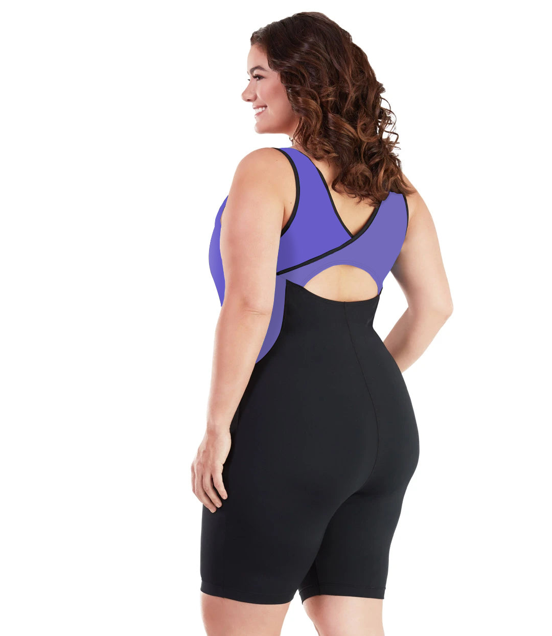 AquaSport Crossback Aquatard Purple and Black-Swim One Piece-SFO Apparel-XL-Purple/Black-JunoActive