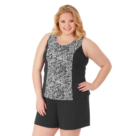 plus size swimwear tankini top black