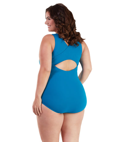 chlorine resistant plus size swimwear one piece