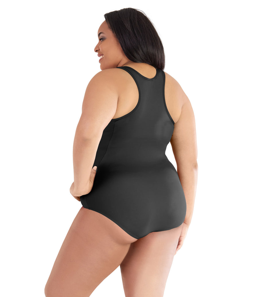 plus size swimwear one piece swimsuit black