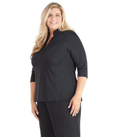 Plus size swimwear rash guard