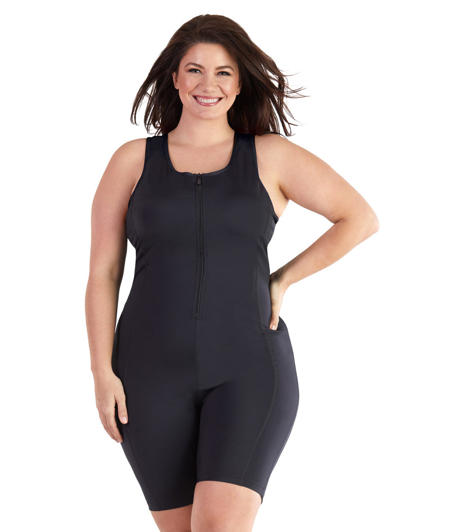 bbf55d8e4f1 Plus size swimwear one piece swimsuit aquatard black