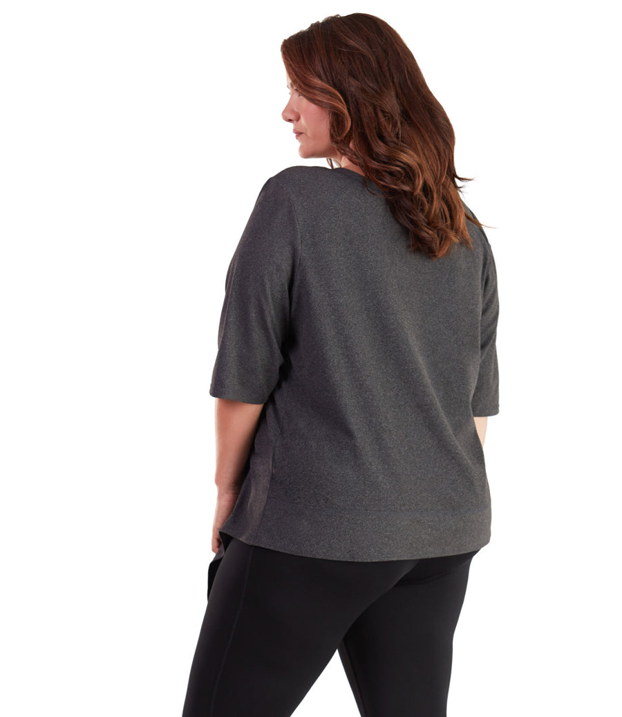 SoftWik® Asymmetrical 3/4 Sleeve Top