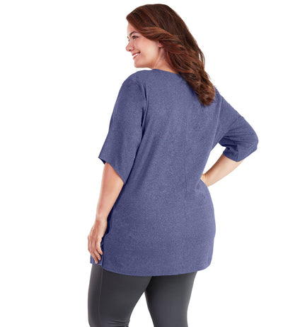 plus size activewear top with pockets