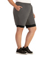 Dual Layer Walking Short-Bottoms Shorts-Foo Brothers-XL-Taupe/Black-JunoActive