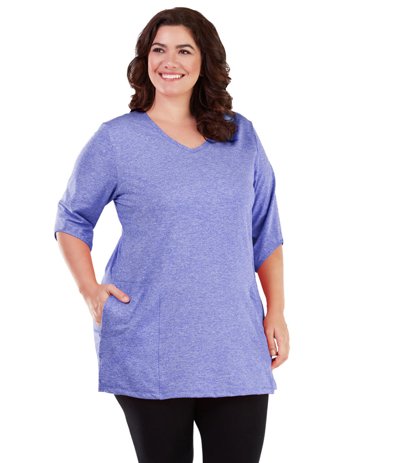 plus size tunic with pockets