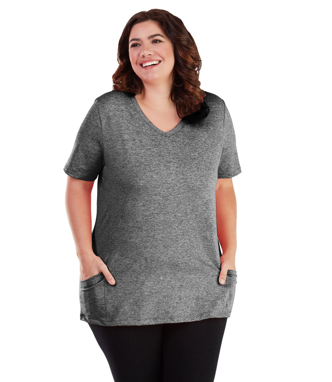 plus size top with pockets