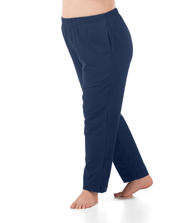 women's plus size pant with pockets navy