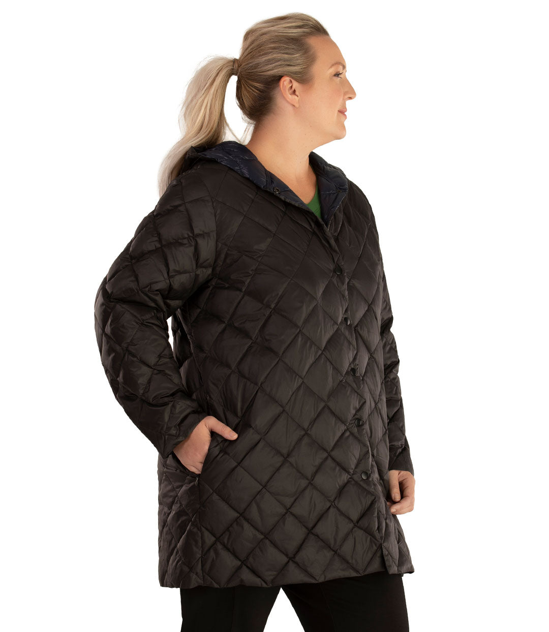 Quilted Light Weight Parka-Outerwear Jacket-Hangzhou Yelta Import and Export Co.,Ltd-XL-Black-JunoActive