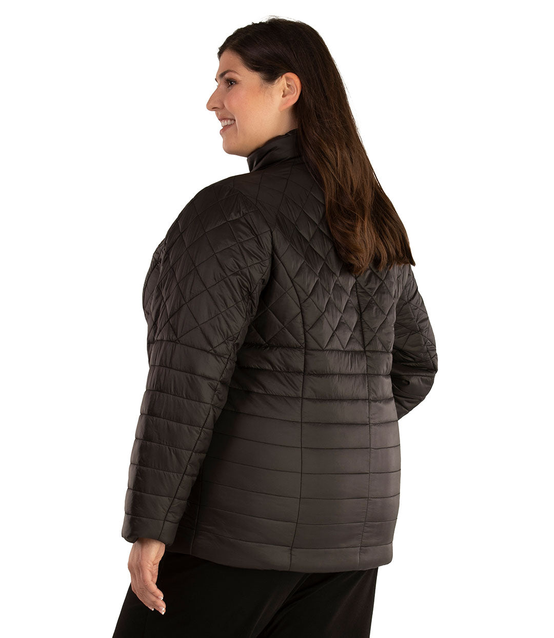 Quilted Active Length Jacket-Outerwear Jacket-Hangzhou Yelta Import and Export Co.,Ltd-XL-Black-JunoActive