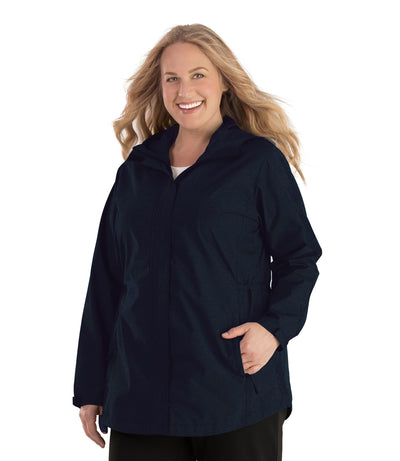 Waterproof Breathable Wind & Rain Jacket-Plus Size Outerwear Clothing-Hangzhou Yelta Import and Export Co.,Ltd-1X-Deep Navy-JunoActive