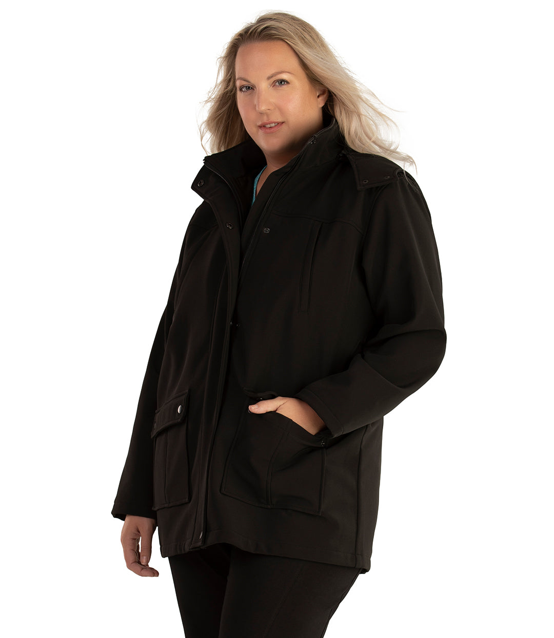 Hooded Softshell Jacket-Outerwear Jacket-Hangzhou Yelta Import and Export Co.,Ltd-XL-Black-JunoActive