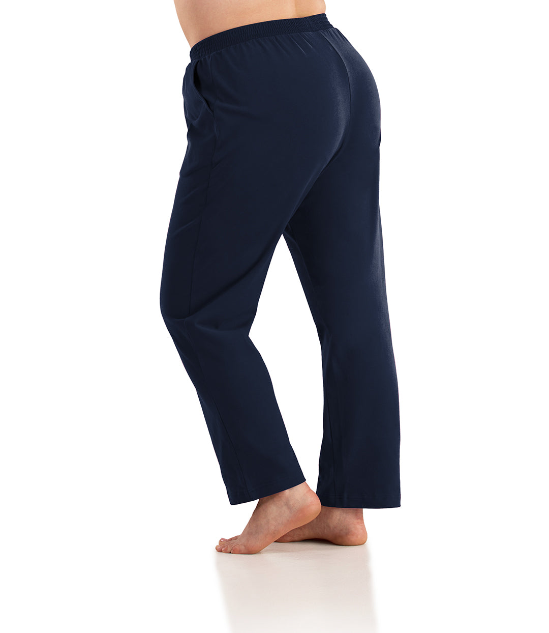 Seashell™ Cotton Casual Pant with Pockets-Plus Size Activewear & Athletic Clothing-Hop Wo Trading Co Ltd-XL-Average-Navy Blue-JunoActive