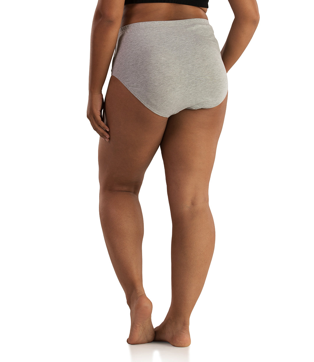 Junowear Cotton Stretch Classic Brief-Plus Size Underwear & Intimates-Hop Wo Trading Co Ltd-1X-GREY-JunoActive