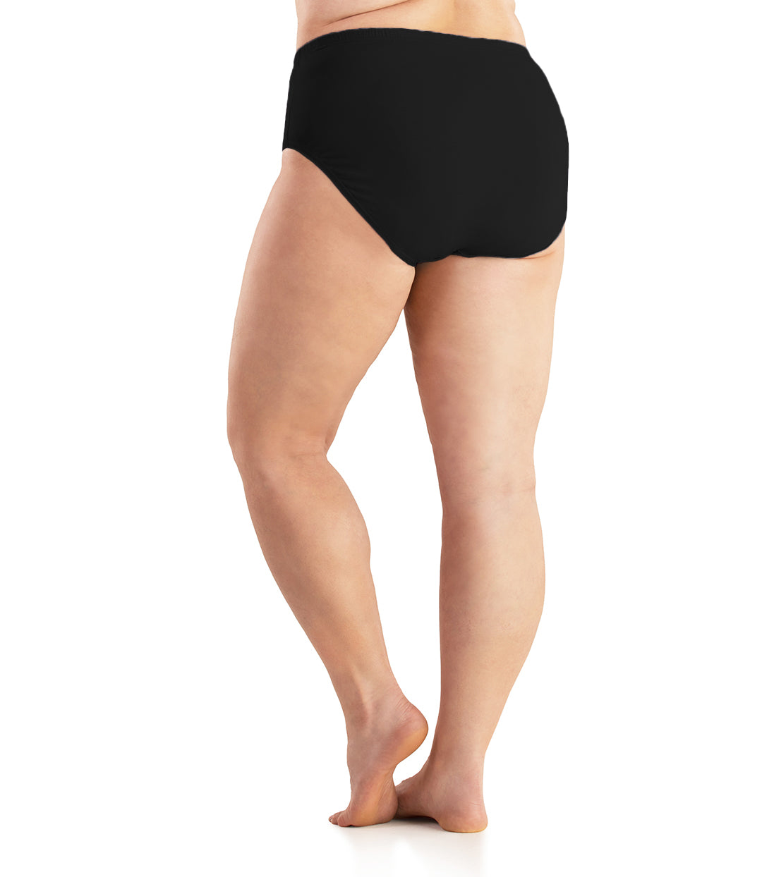 Junowear Cotton Stretch Classic Brief-Intimates Briefs-Hop Wo Trading Co Ltd-1X-BLACK-JunoActive