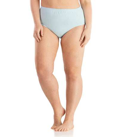 Junowear Cotton Stretch Classic Brief-Plus Size Underwear & Intimates-Hop Wo Trading Co Ltd-1X-Light Blue-JunoActive