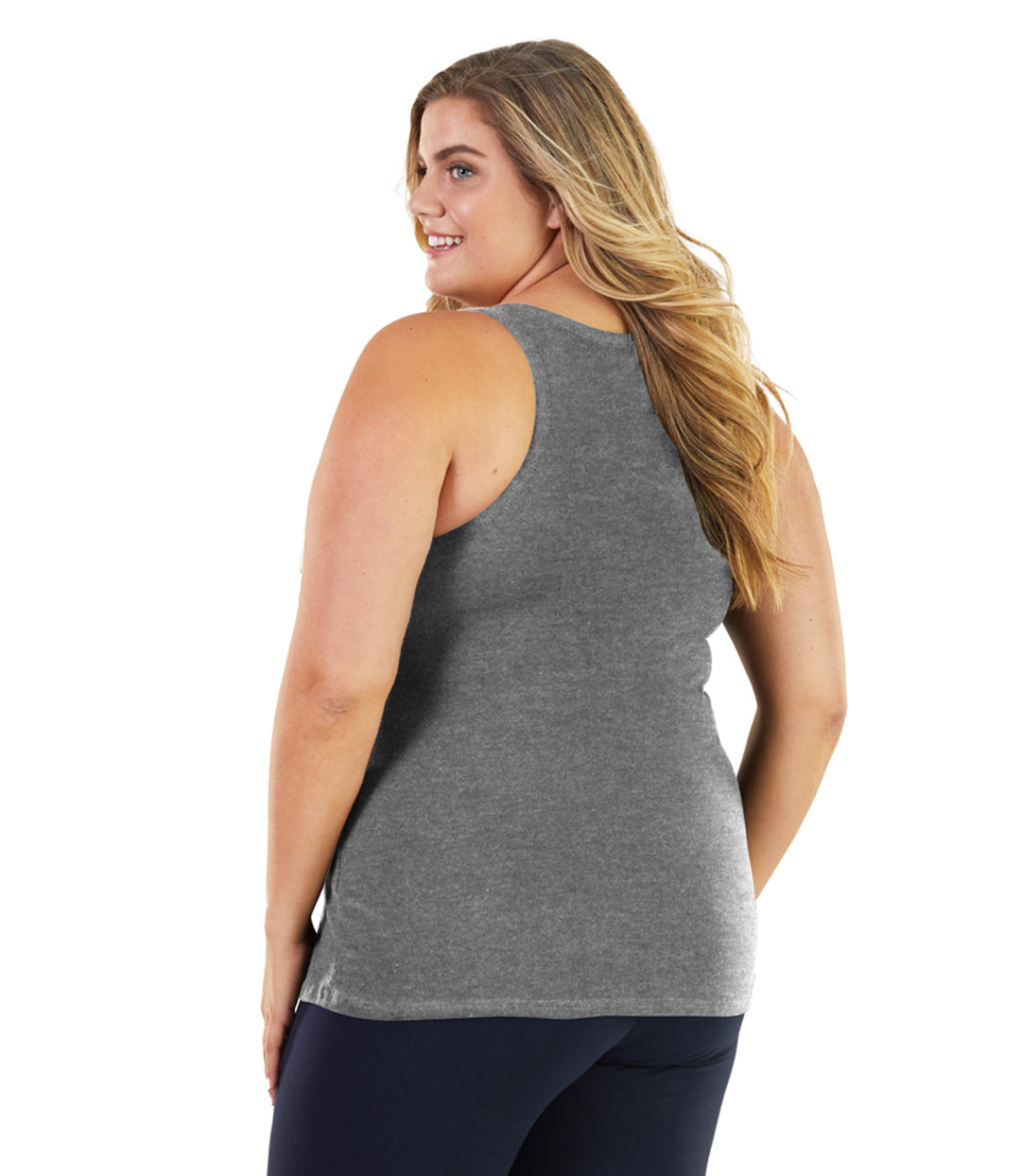 Stretch Naturals Long Support Tank Classic Colors-Shop by Activity-Hop Wo Trading Co Ltd-XL-Lt Heather Grey-JunoActive