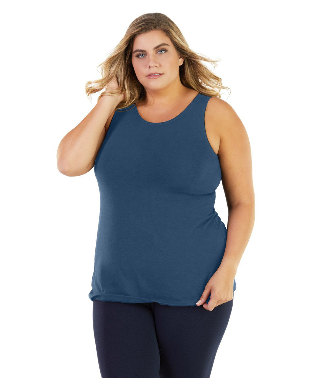 Stretch Naturals Crossback Tank Classic Colors-Tops Tanks-Hop Wo Trading Co Ltd-JunoActive