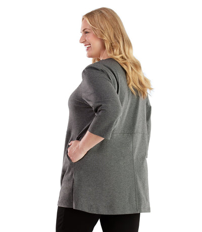 Stretch Naturals Empire Tunic with Pockets-Plus Size Activewear & Athletic Clothing-Hop Wo Trading Co Ltd-JunoActive