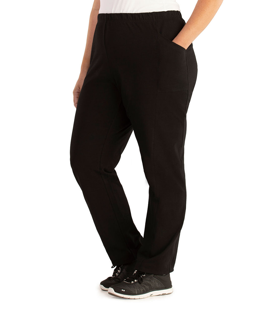 Stretch Naturals Side Pocket Loose Fit Leggings-Bottoms Pants-Hop Wo Trading Co Ltd-XL-Black-JunoActive