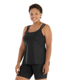 Junowear Hush Strappy Cami with Bra-Plus Size Underwear & Intimates-Hop Wo Trading Co Ltd-1X-BLACK-JunoActive