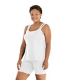Junowear Hush Strappy Cami with Bra-Plus Size Underwear & Intimates-Hop Wo Trading Co Ltd-1X-WHITE-JunoActive