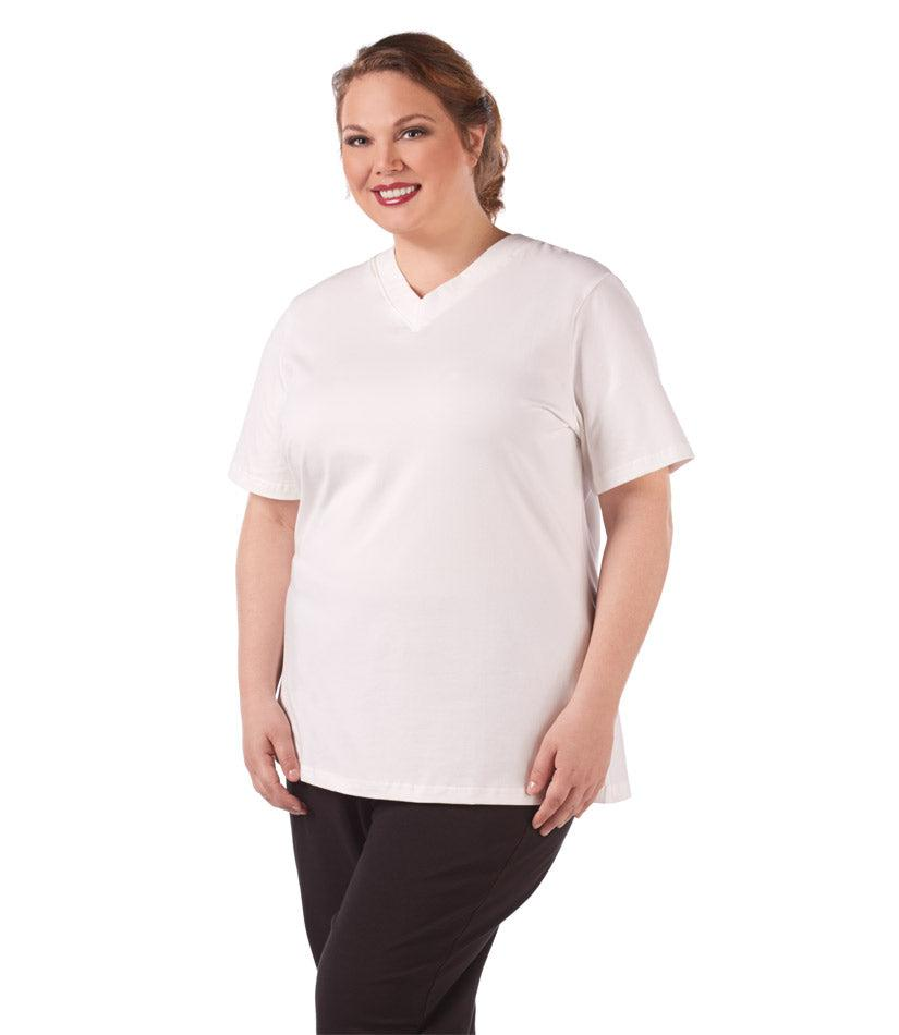 plus size activewear top white