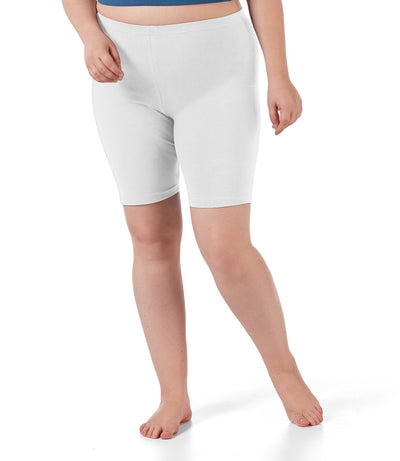 plus size women's boxer briefs white