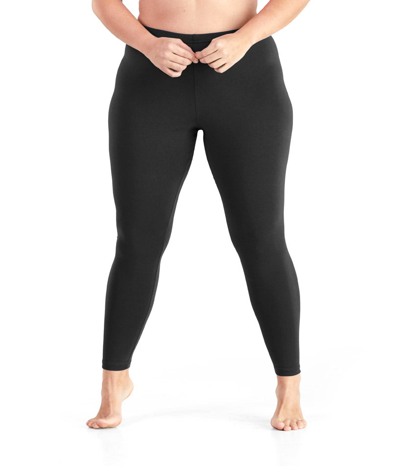 black Plus size leggings