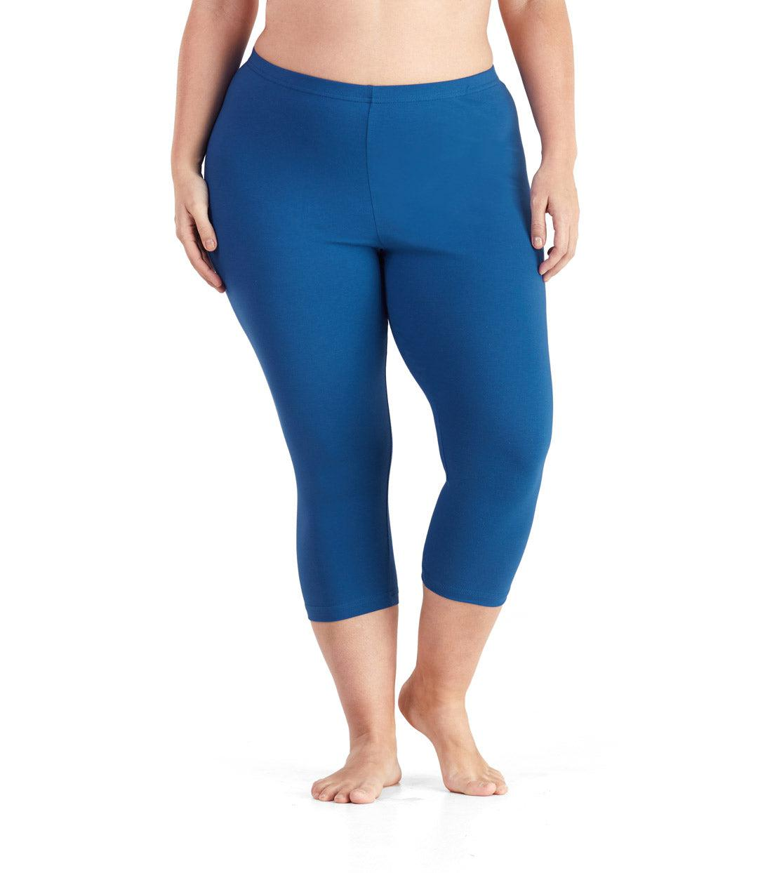 3c6eeec4ea883 Stretchy Workout Pants | Plus Size Exercise Capris | JunoActive