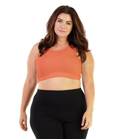 Stretch Naturals™ Scoop Neck Bra Top Classic Colors-Shop by Activity-Hop Wo Trading Co Ltd-XL-Coral-JunoActive