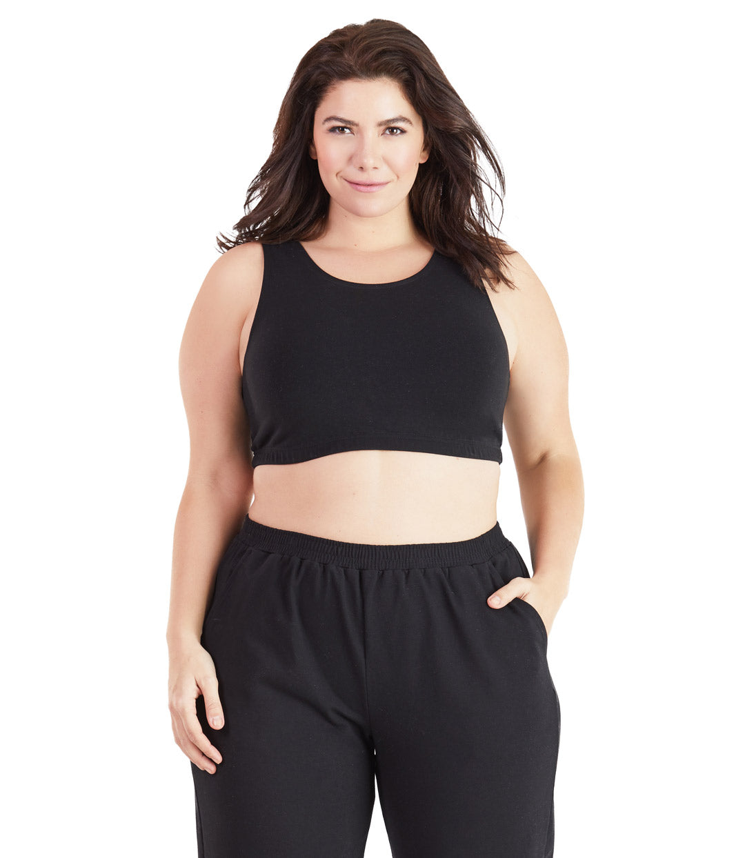 black plus size sports bras