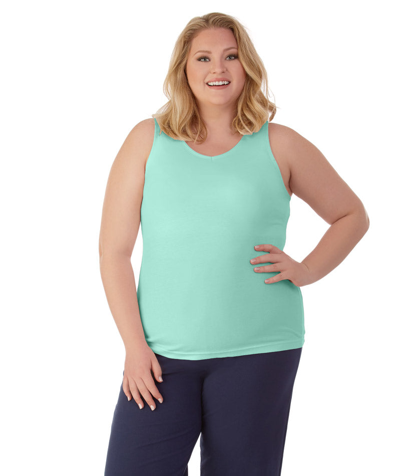 afba661454c58 Stretch Naturals Capris in Lilac Print | Plus Size Activewear ...