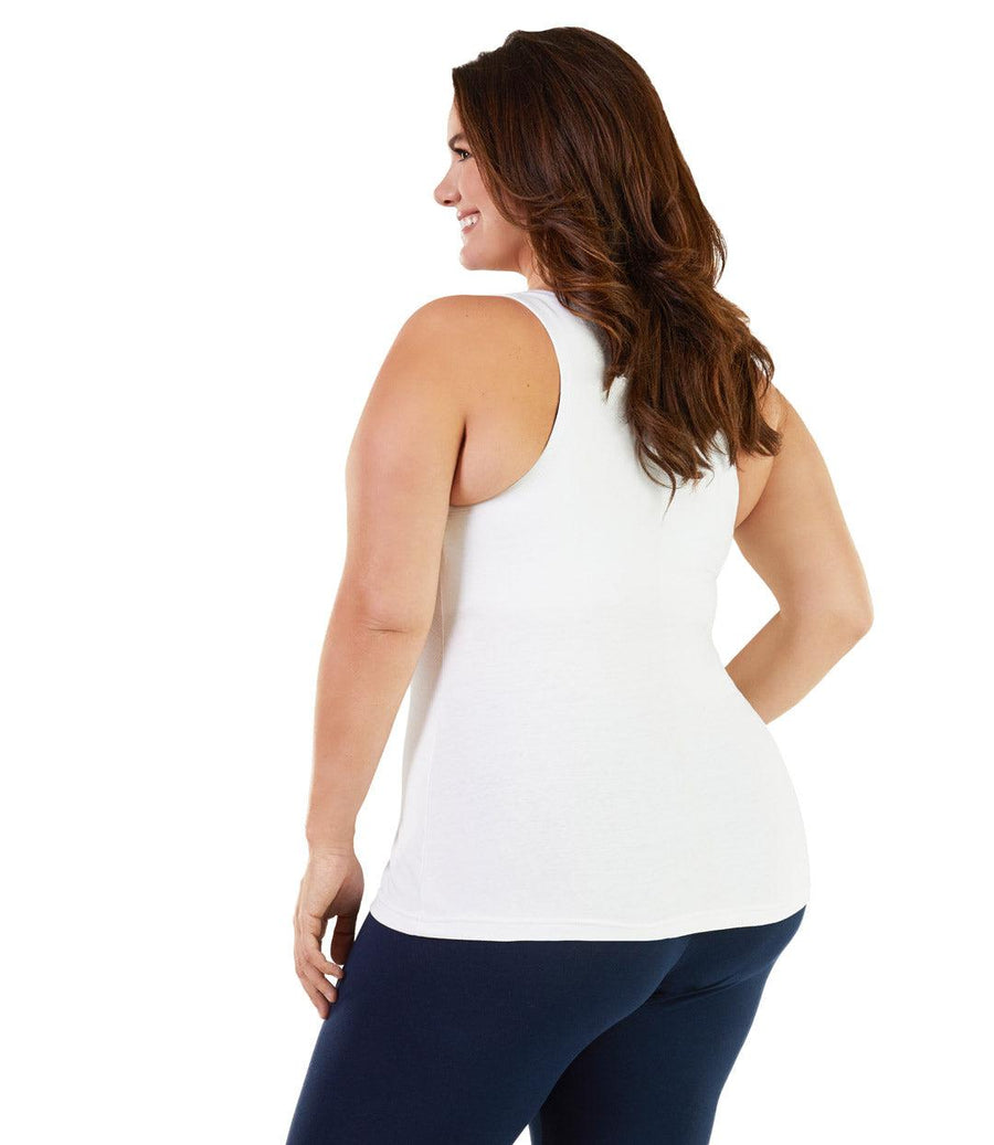 Plus size activewear tank