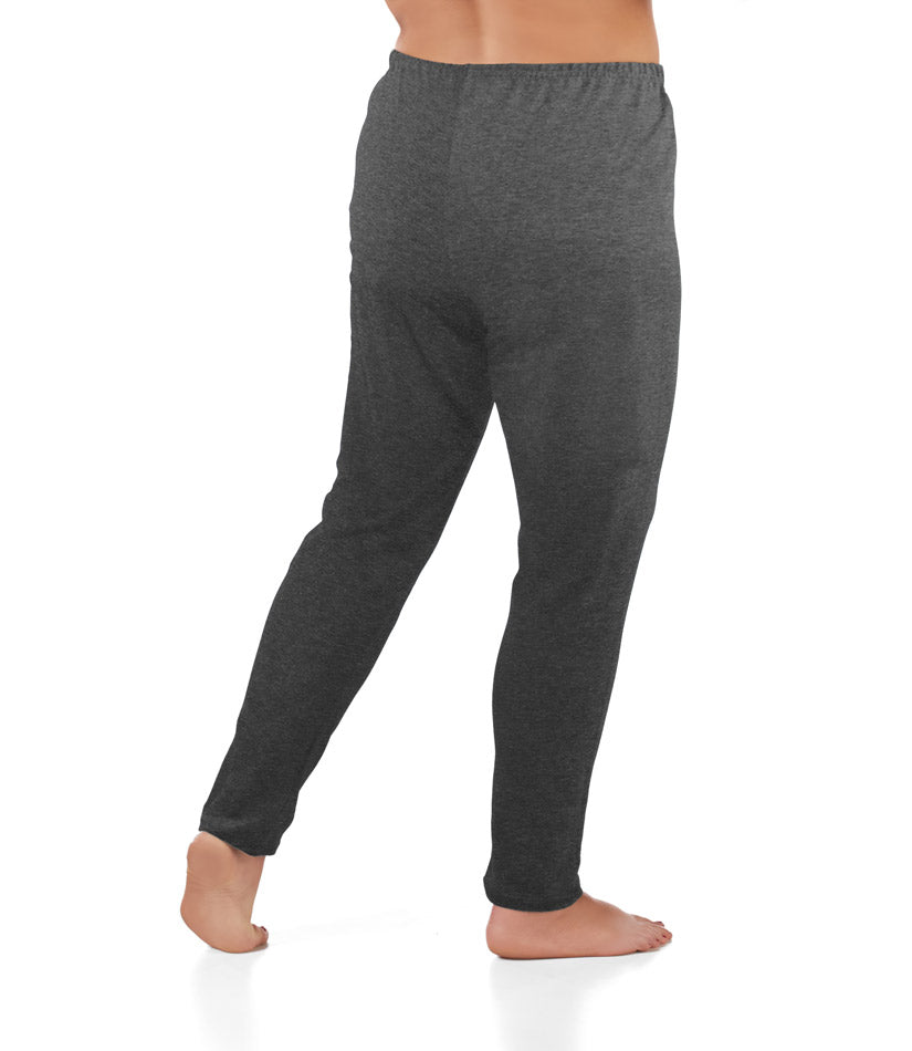 Plus Size Loose Fit Leggings In Charcoal
