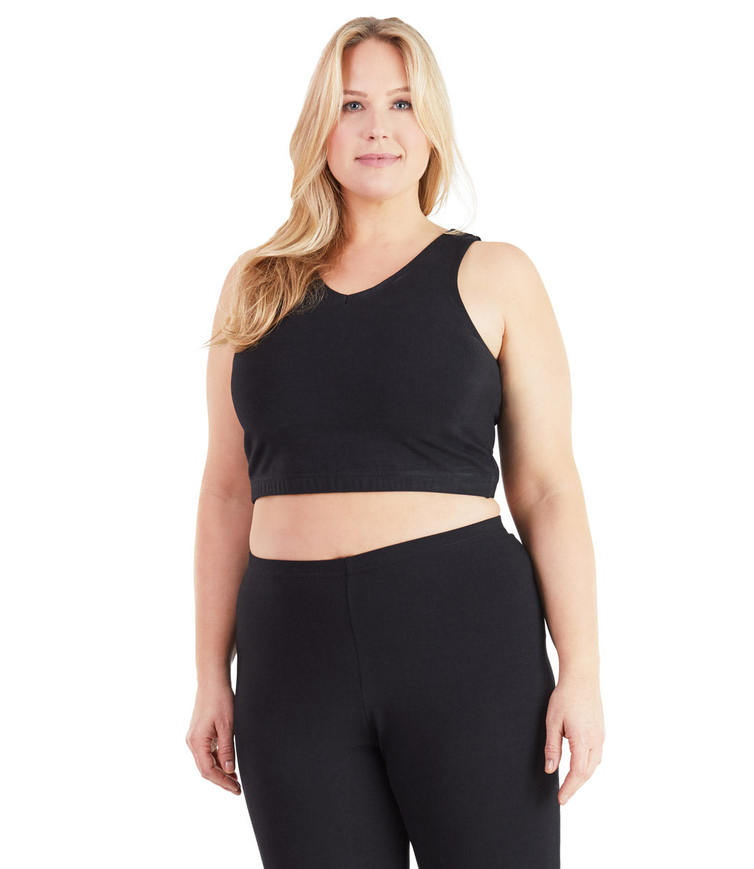 Plus size sports bras black