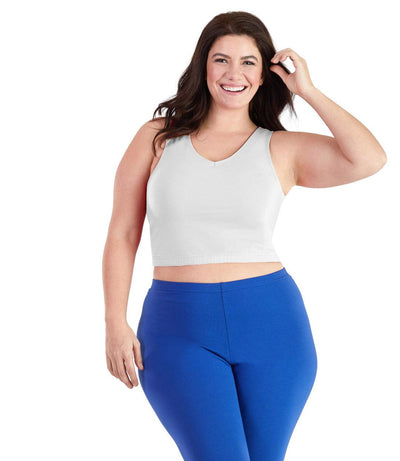 Plus size sports bras white