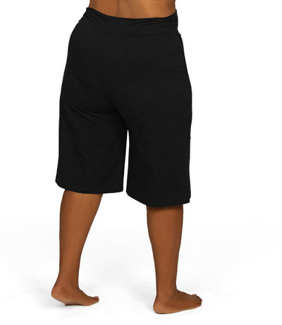 black plus size yoga shorts
