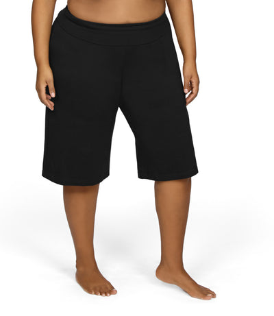 plus size pull on shorts