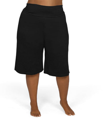 black plus size shorts