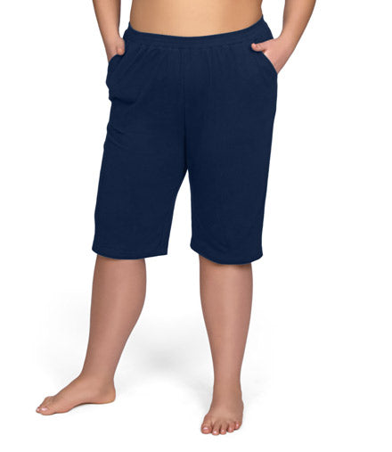 women's plus size shorts with pockets