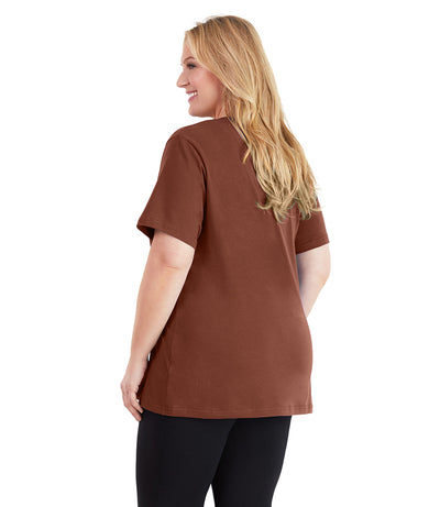Stretch Naturals Basic Tee-Plus Size Activewear & Athletic Clothing-Paddy Lee-JunoActive