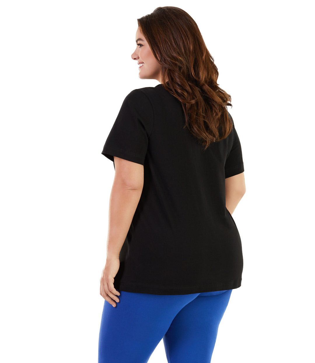 plus size activewear top black