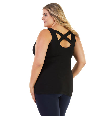 Stretch Naturals Crossback Tank With Bra