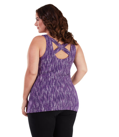 plus size long workout tank