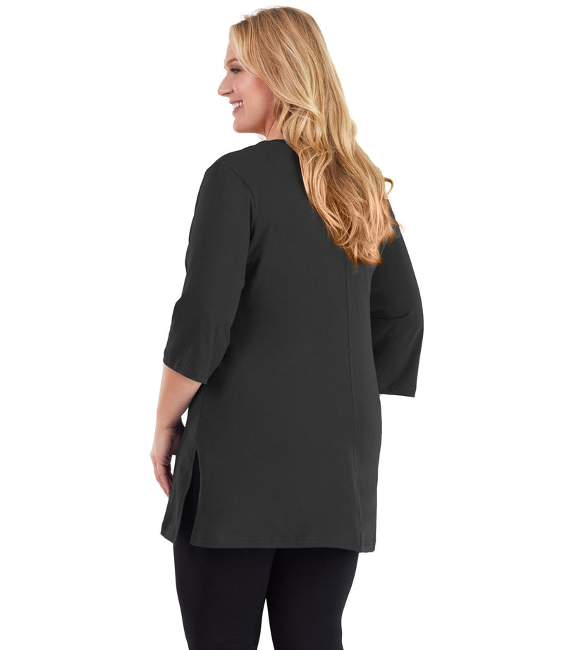 black plus size tunics for leggings