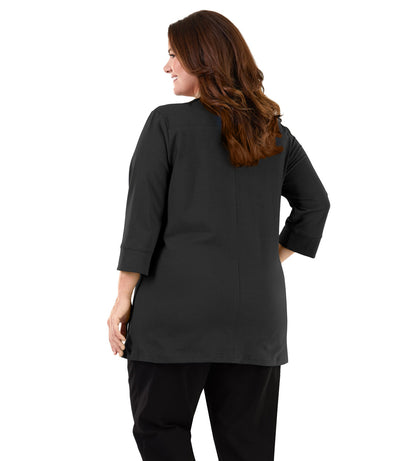 women's plus size yoga top black