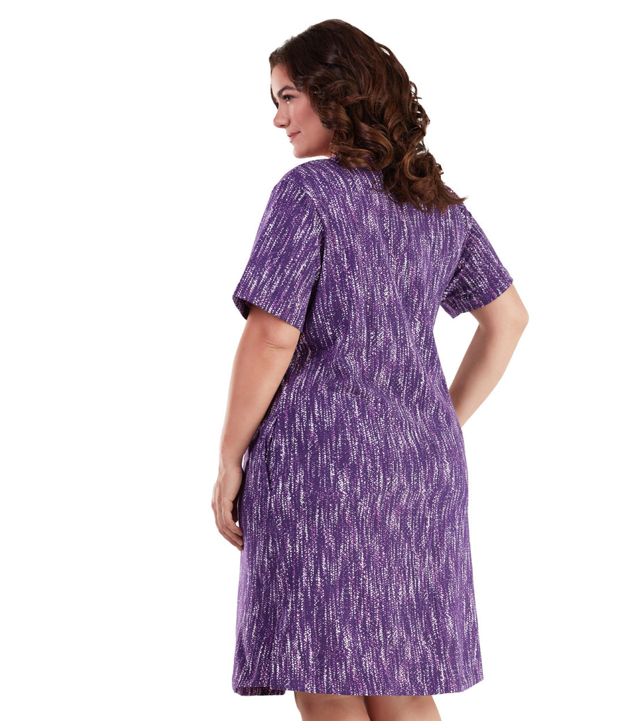 Stretch Naturals Short Sleeve V-Neck Dress
