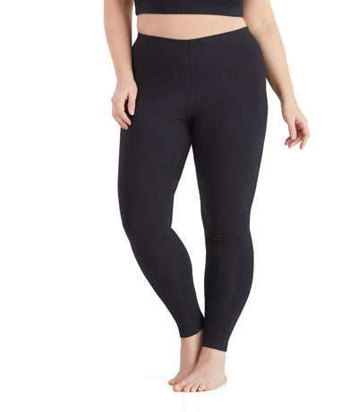 plus size leggings black